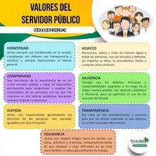 valores de servidores públicos