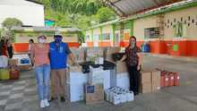 Entrega de elementos de bioseguridad a la Institución Educativa Miracampos, Municipio de Quinchía.