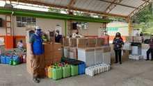 Entrega de elementos de bioseguridad a la Institución Educativa Santa Elena, Municipio de Quinchía